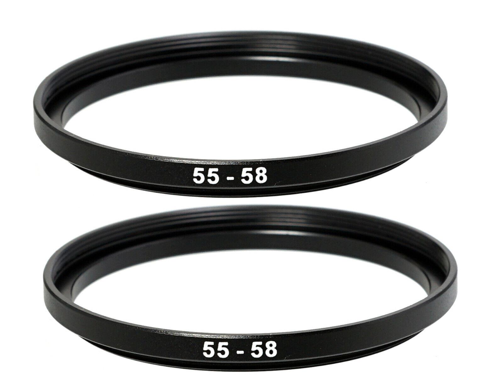 4 Pack Sensei 58mm Lens to 52mm Filter Step-Down Ring