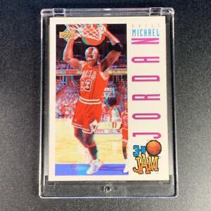 MICHAEL-JORDAN-1993-UPPER-DECK-91-3D-JAM-BASE-CARD-CHICAGO-BULLS-NBA-MJ