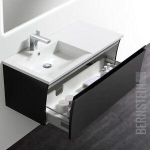 Bernstein Badmöbel Set 100cm Waschbecken Unterschrank Weiß Oder