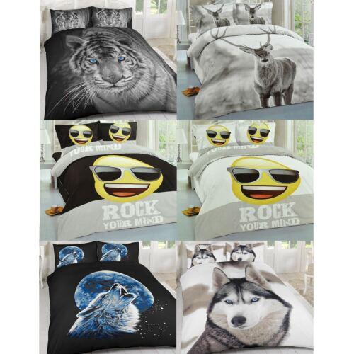 100/% polyester Luxury Duvet Cover Set Pillow Case Bedding Single Double King