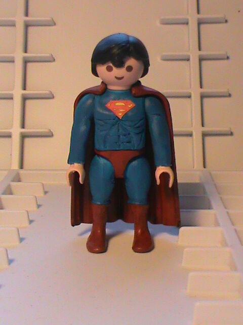 PLAYMOBIL PERSONNALISÉ SUPERMAN (SUPER HÉROS) REF-0001 BIS