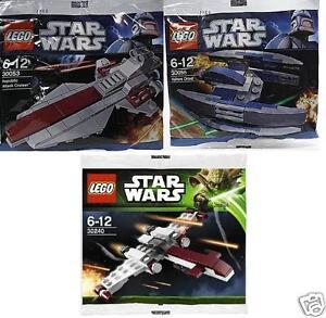 3x-lego-star-wars-the-clone-wars-vautour-Droid-Cruiser-z-95-30053-30240-30055