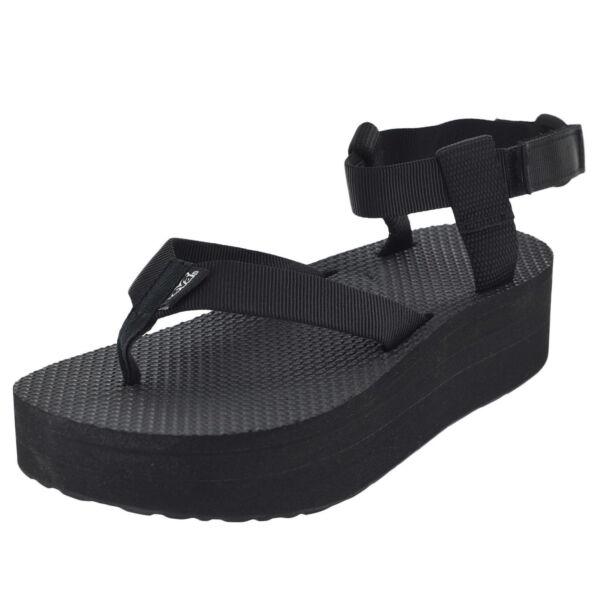 75b7f3cca97 Teva Womens Flatform Platform Ankle Sandal Black 6 M US for sale ...