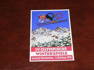 ORIGINAL-SKIING-ADVERTISING-POSTER-POSTCARD-WINTER-OLYMPICS-1936