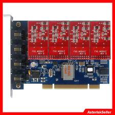 Asterisk Card TDM400P FXO Card 4 Port FXO FXS FreePBX Issabel Elastix 4 VoIP PBX