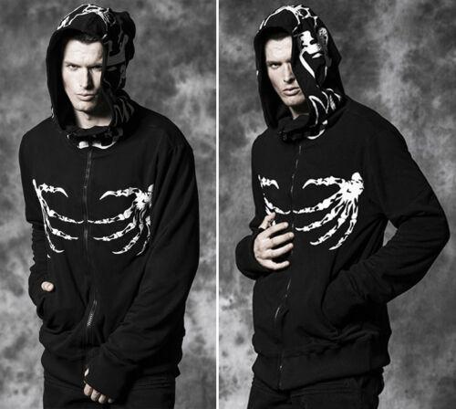 Lutin Punk Tribal Hoodie Squelette Gothique Veste Homme Punkrave q7Xwn5