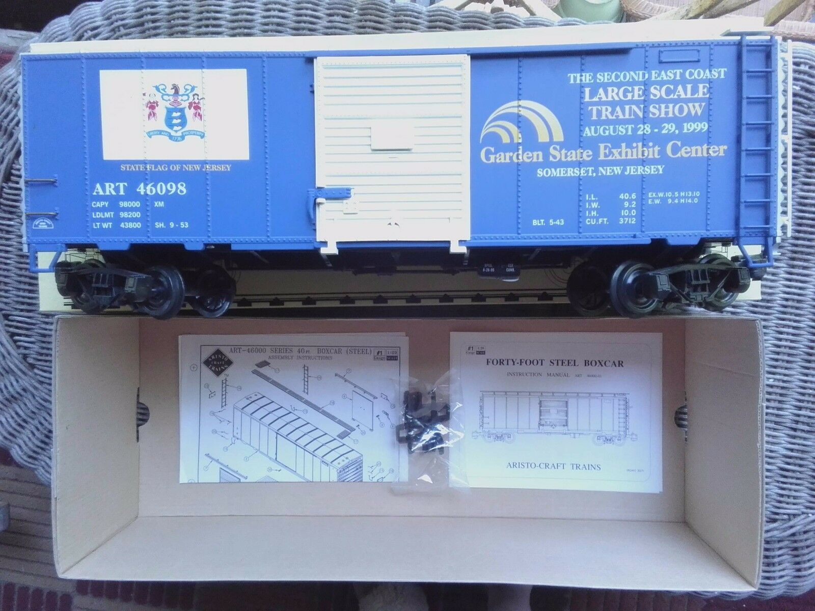 Aristocraft G G G Scale ART46098 Box Car 2nd East Coast