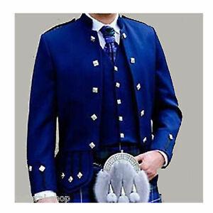 Scottish-Piper-Drummer-Doublet-Tunic-band-Kilt-Jacket-Waistcoat-Custom-jackets-R
