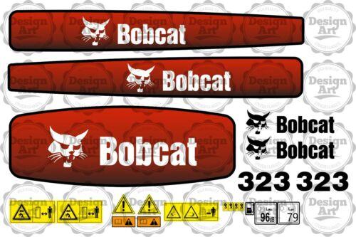 BOBCAT 323 Bagger MiniBagger Digger Aufkleber Set Decals