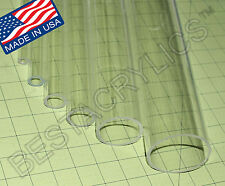 3 Pc 1 14 Od X 1 Id X 12 Inch Long Clear Acrylic Plexiglass Lucite Tube 125