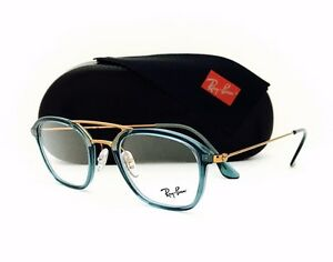 New-Ray-Ban-Eyeglasses-RB-7098-5632-Turquoise-Copper-48-21-145-W-Original-Case