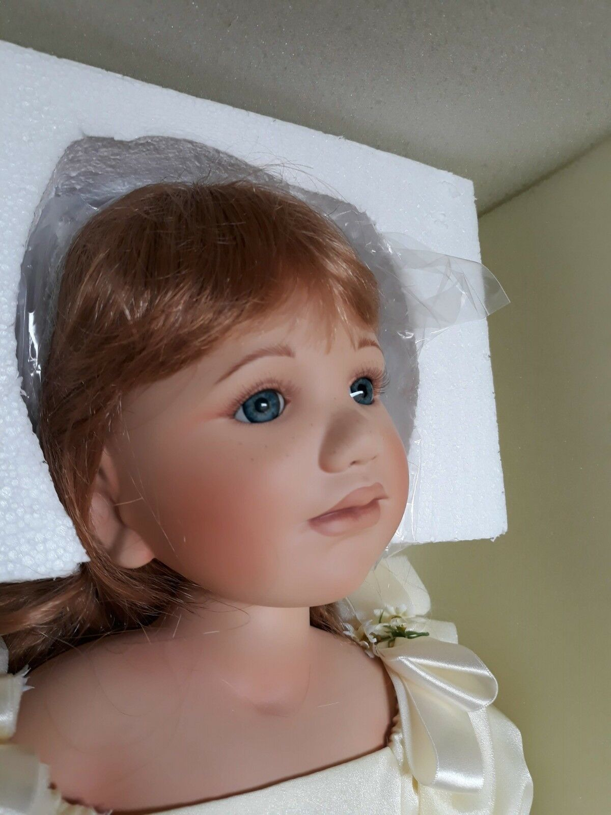 Original de porcelana artistas muñeca Berdine Creedy Meadow 80cm
