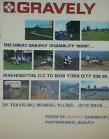 Gravely 432 430 424 404 7.6 816 Lawn Garden Tractor Color Sales Manual 28pg 1972
