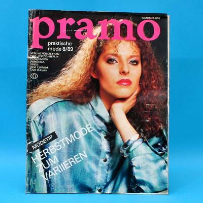 Ddr Pramo 8/1989 Praktische Mode Schnittmuster G Kleider Junge Mode Kombination