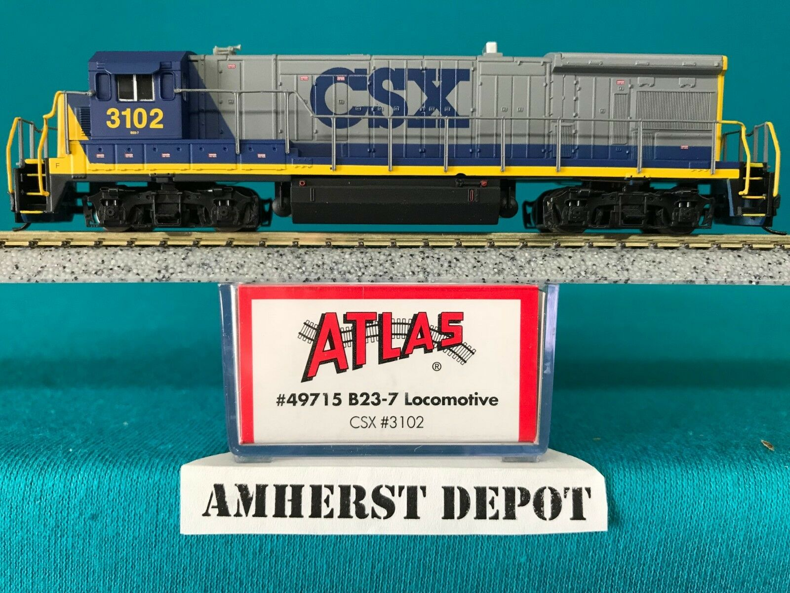 49715 CSX Atlas N Scale B23-7 DCC Ready NIB