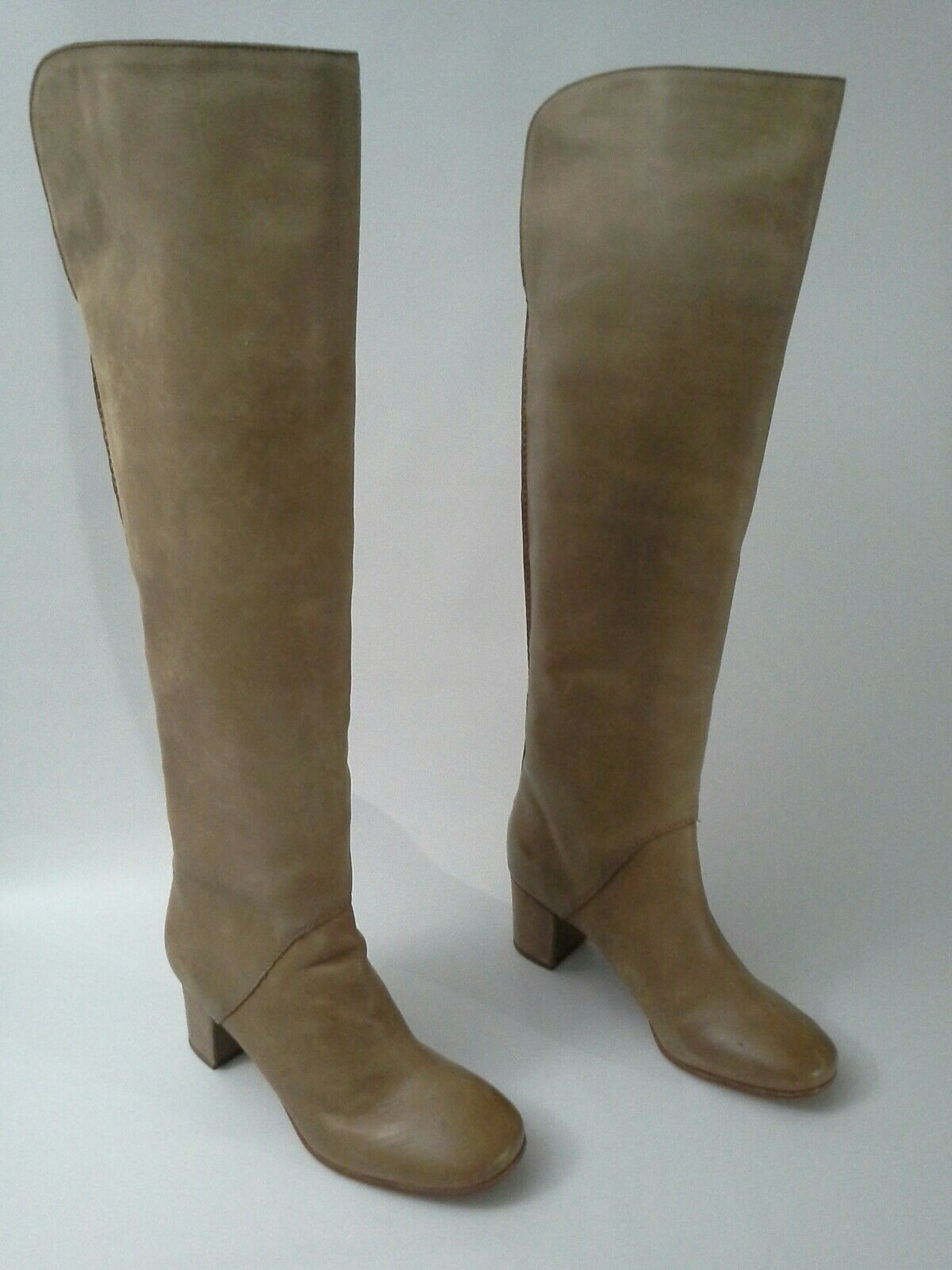 supporto al dettaglio all'ingrosso Anthropologie Rory Knee High stivali Leifnotes Tan Distressed Leather Leather Leather 7 37  228  liquidazione
