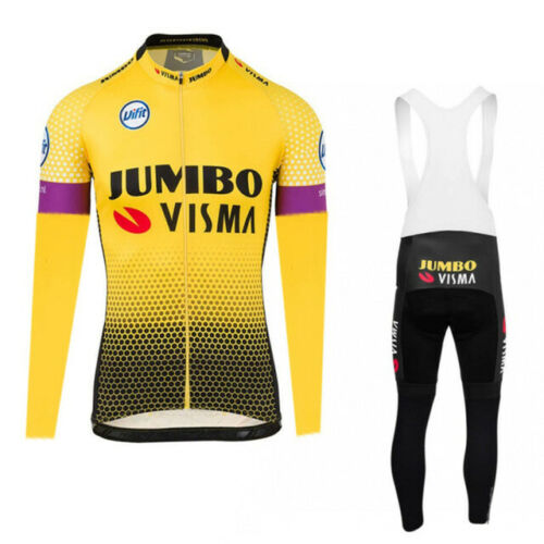 2019 Jumbo Visma Cycling Jersey Long sleeve MTB Bike Clothing Wear Ropa Maillot