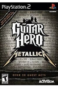 Guitar-Hero-Metallica-PS2-Playstation-2-Game-Collectible-T-kids-Rock-Music