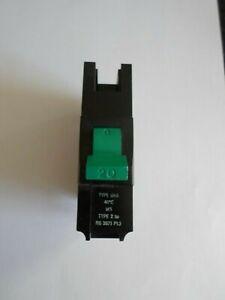 Federal Electric MCB 20 Amp Type 2 M5 20A Single Pole Stab-lok BNA1P20