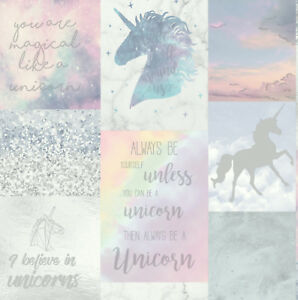 Imagine By Arthouse Believe In Unicorns Glitter Sparkle Girls Wallpaper (698300)