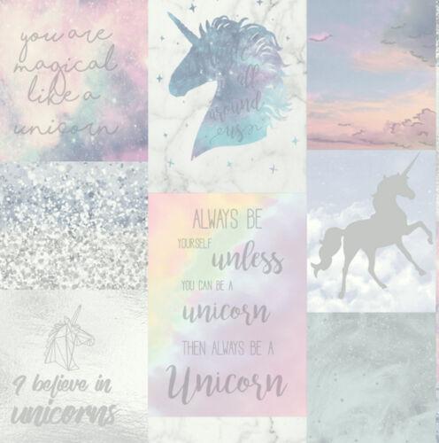 698300 Imagine By Arthouse Believe In Unicorns Glitter Sparkle Girls Wallpaper