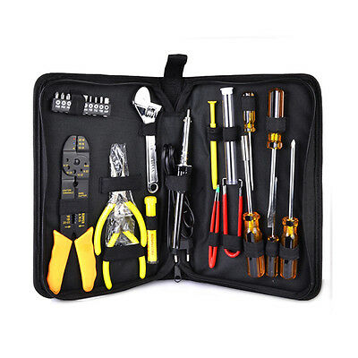 25 Piece Portable Engineer Hand Tool and Electronics Kit with Zippered Case
