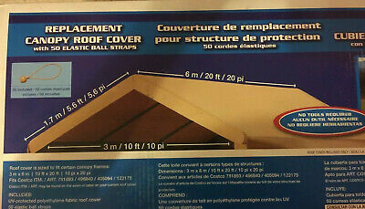 NEW 10x20 REPLACEMENT COVER Costco Carport Roof Top Canvas ...