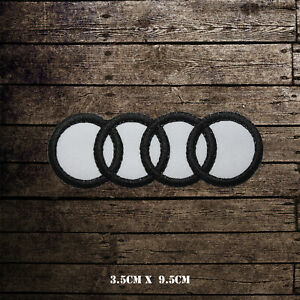 Audi Car Brand Logo Racing Embroidered Iron on Patch Sew on Badge
