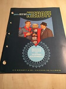 50 60 's Niehoff Service Stock & Testing Equipment Catalog Guide Book