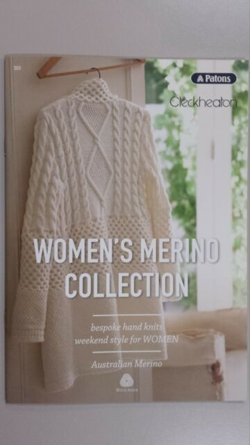 Unique Pattern Book #303 Women's Merino Collection by Patons & Cleckheaton