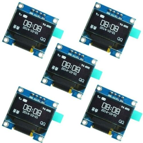 5Pcs 0.9 I2C IIC Serial 128X64 White OLED LCD LED Display SSD1306 for Arduino