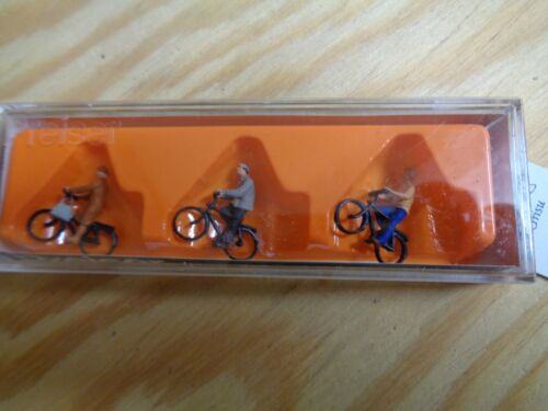 Personnages Neuf dans sa boîte 1:100 Preiser 74011 cyclistes