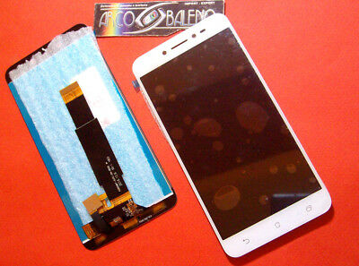 DISPLAY LCD+TOUCH SCREEN PER ASUS ZENFONE LIVE ZB501KL BIANCO VETRO RICAMBI