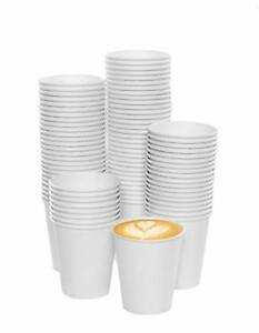 7 OZ DISPOSABLE WHITE PLASTIC DRINKING CUP Wedding Party Barbecue pack of 100