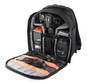 Sac-a-dos-noir-pour-appareil-photo-Reflex-Pentax-K-30-Nikon-D800-Nikon-D7000