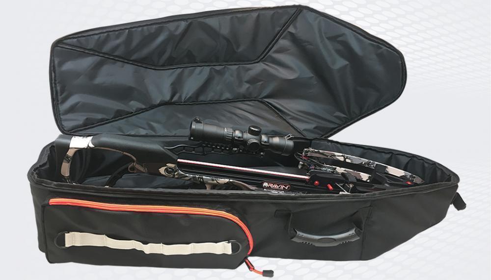 Nuevo Negro y Naranja Suave Silencioso Ballesta Arco caso Modelo   R180