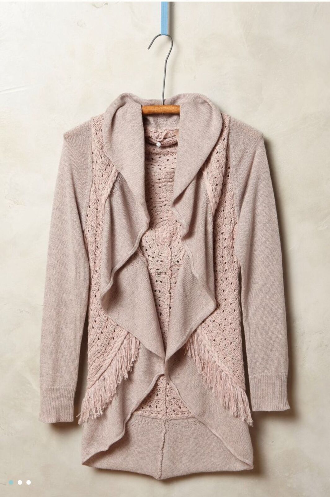 NWOT NWOT NWOT   128.00 Anthropologie Fringed Circle Cardigan by Knitted  Knotted Large 6855dd
