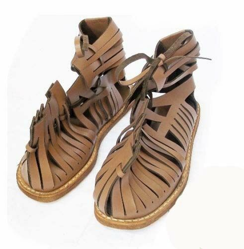 DEAL Medieval Roman Leather Sandal Caligae Light Brown color Size 10 SC EXPORT
