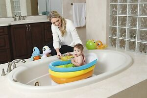 Baby Bath Safe Seat Chair Inflatable My First Tub & Thermometer 0-2 years old BW 6942138926057
