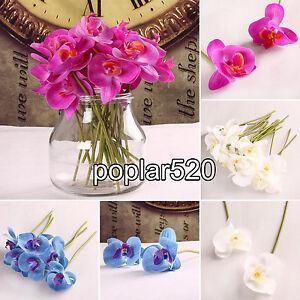 6-12pcs-Artificial-Butterfly-Orchid-Flower-Bouquet-DIY-Home-Wedding-Party-Decor