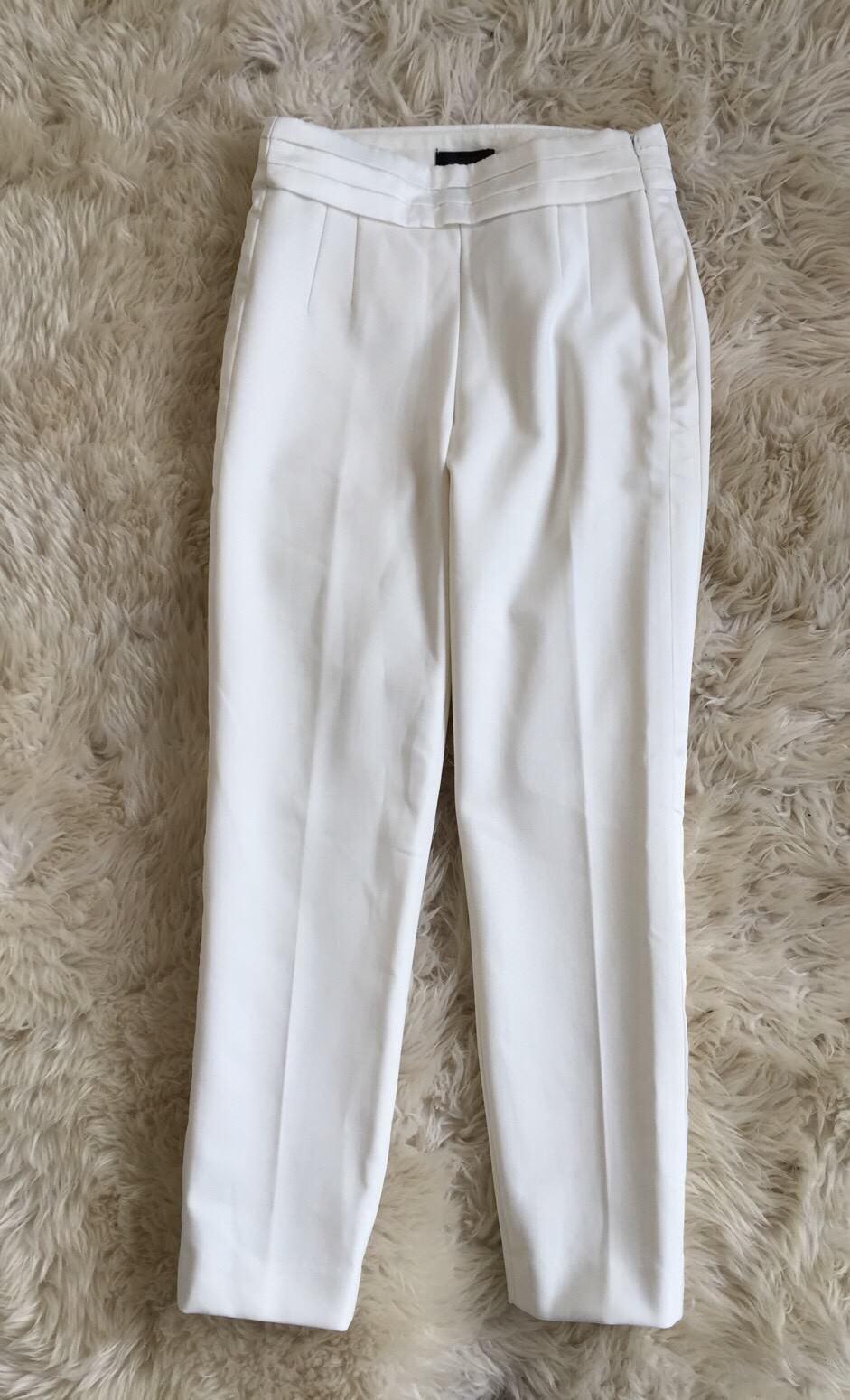 NEW JCrew  118 Martie Tuxedo Pants in Seasonless Stretch Size 0 Ivory H2752