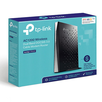 New TP-Link Archer CR500 16x4 AC1200 Wireless Dual Band DOCSIS 3 0 Modem  Router 845973096694 | eBay
