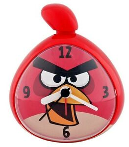Children Rovio Red Angry Bird Alarm Clock Nightstand Table Sleep