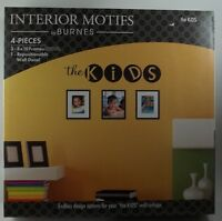 Interior Motifs By Burnes The Kids 3 - 8x10 Picture Photo Frames W/ Wall Decal