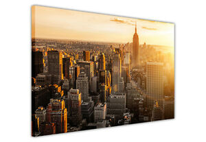 NEW-YORK-AT-DUSK-CANVAS-WALL-ART-PRINTS-PHOTO-PRINT-PICTURES-HOME-DECORATION