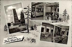 Rhein-Weser-Turm-Hochsauerland-s-w-Mehrbildkarte-1963-Innenansicht-Gaststaette