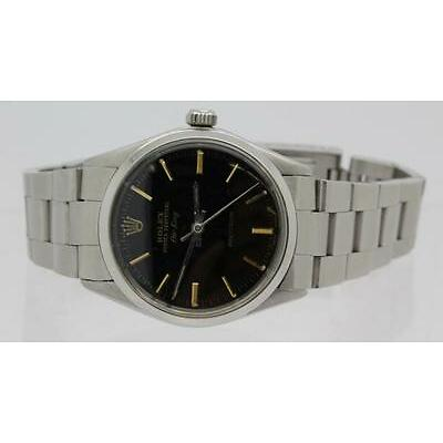 4. Men's Black Dial Rolex Air King 5500 Oyster Band Wrist Watch Lot 4