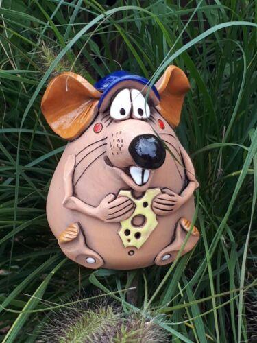 Mouse CERAMICA formaggio Giardino Sfera Decorazione orti terrazzo regalo di compleanno personaggio