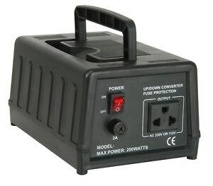 Alta-Resistencia-Paso-Convertidor-De-Voltaje-Transformador-200W-240V-a-120V