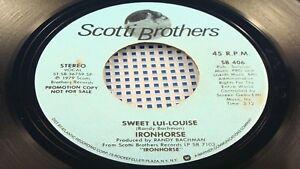 IRONHORSE-Sweet-Lui-Louise-NEAR-MINT-PROMO-Canada-Press-Randy-Bachman